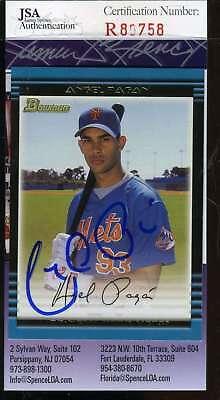 Angel Pagan Jsa Coa Autographed 2002 Bowman Rookie Authentic Hand Signed