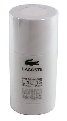Eau De Lacoste  L.12 .12 Blanc By Lacoste  Deodorant Stick 2.4 oz/75g New No Box