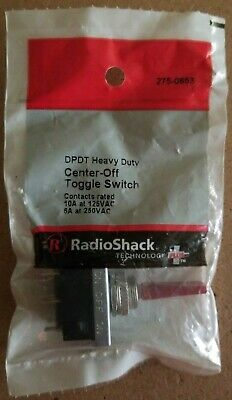 NEW! RadioShack DPDT Heavy Duty Center-Off Toggle Switch 2750653 *FREE SHIPPING*