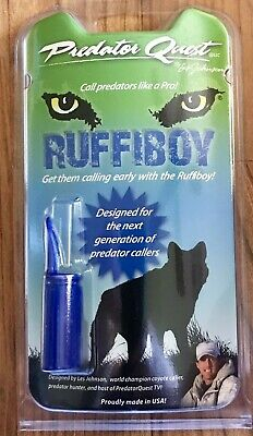 Predator Quest Les Johnson RUFFIBOY Coyote Predator Call + Lanyard LJ-1341RB NEW Predator Call Lanyard