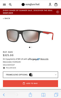 RayBan  #RB4228M #58. Used but couple of times . 6 weeks old .