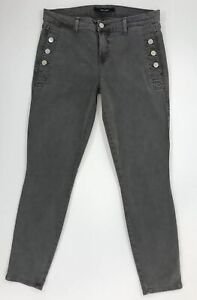 aa2a0d8b05d1 J BRAND Zion Mid Rise Skinny Ankle Button Pocket Jean, Silver Fox Grey SIZE  29