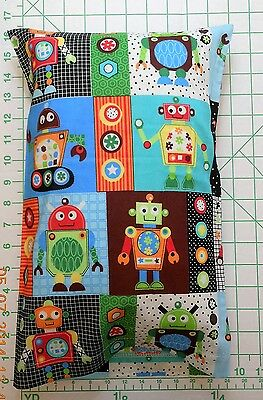 ROBOT robots gears in blocks Small Pillow Case with Travel / Toddler Pillow