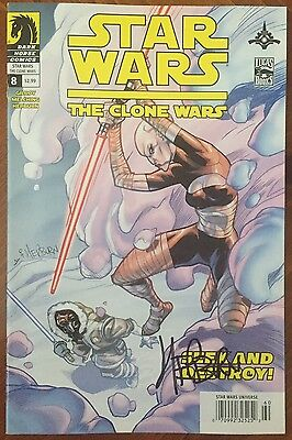 Star Wars: The Clone Wars (2008) #8 - Signed Comic Book - Dark Horse Comics
