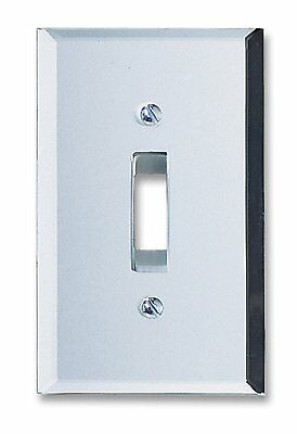 Light Switch Plate cover Amerelle Clear Mirror Finish Toggle Rocker Outlet ()