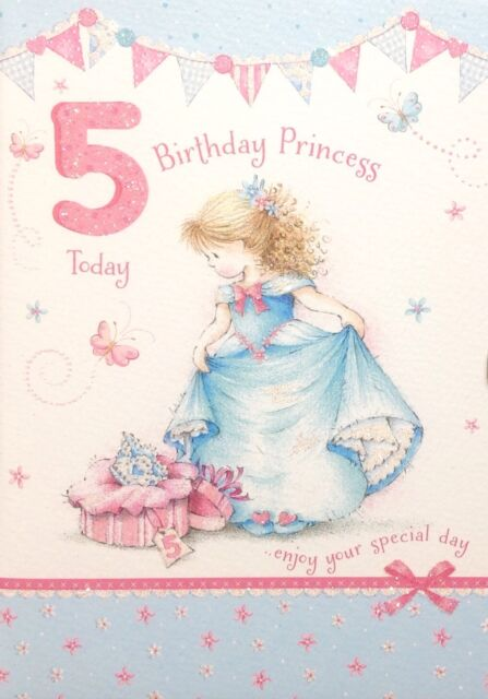 Ballerina fairy girl 5th happy birthday greetings cards age 5 card birthday princess 5 5th birthday card lovely design princess made in uk bookmarktalkfo Image collections