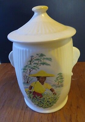 Vintage Sylvac tea caddy with Elephant Ears - **New Price**