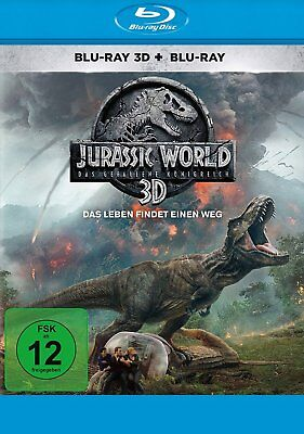 Jurassic World 2 - Das gefallene Königreich 3D+2D # 2-BLU-RAY-NEU
