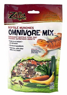 Zilla Munchies Omnivore Mix Pet Reptile & Amphibian Food 09625 - 4 oz