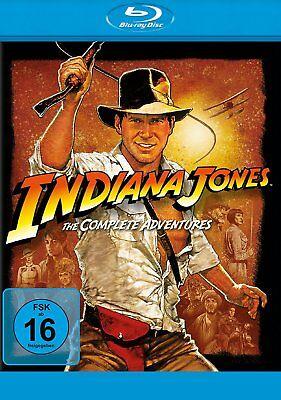 Indiana Jones 1+2+3+4 - The Complete Adventures # 4-BLU-RAY-BOX-NEU