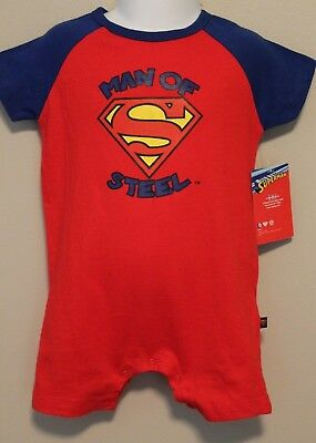 Man Of Steel Outfit (BOYS 6-9 months SUPERMAN (Man of Steel) romper NWT 1-piece outfit)