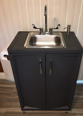 Portable Sink Nsf Mobile Handwash Hot Cold Waterself Contained. Deluxe.