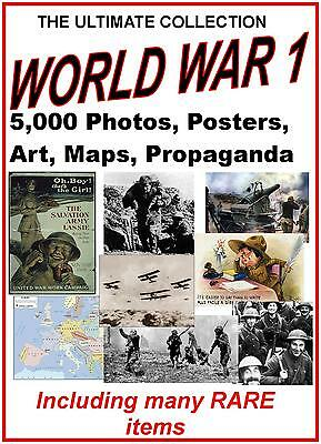 5000 Rare Images World War 1 Print Sell Business Unique Collection Photos