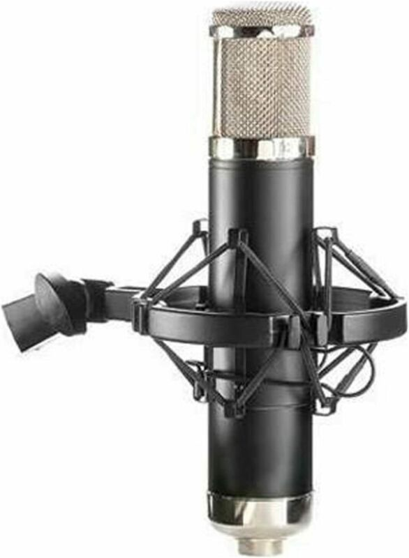 Large Diaphragm Studio Condenser – all tube, multi-pattern, shock mount clip,