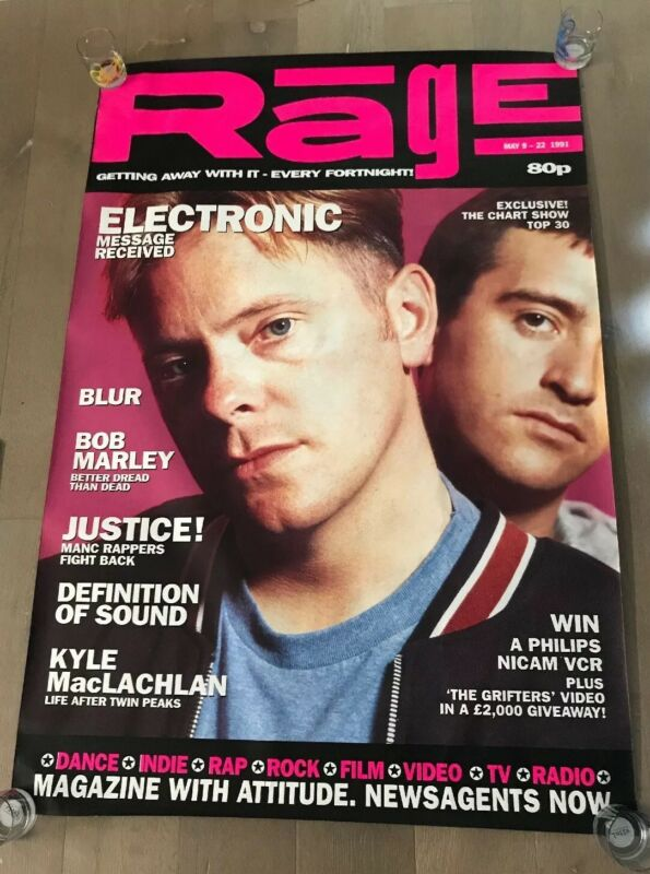 """Electronic B Sumner New Order J Marr The Smiths Rage Magazine Poster 40"""" X 60"""""""