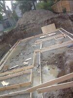 Concrete footings/ small concrete job