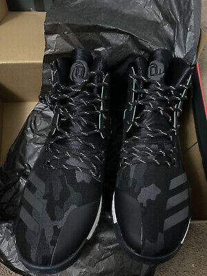 ADIDAS D ROSE 7 VETS DAY BASKETBALL MEN SHOES BLACK/CAMO B42896 SIZE 13.5 NEW!