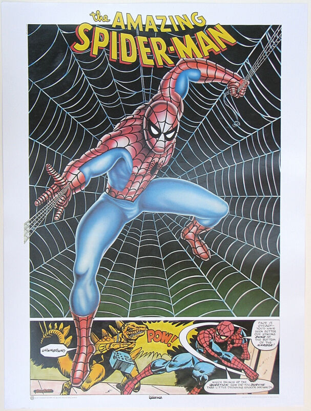 AMAZING SPIDERMAN POSTER Thought Factory 1977 Marvel