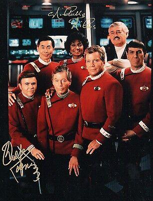 Walter Koenig Nichelle Nichols Star Trek Signed DOUBLE AUTOGRAPH Photo Glossy