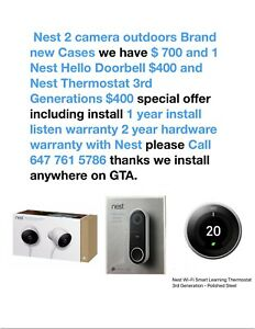 Nest camera installed anywhere on GTA we sell and installed All