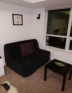 Ikea Sofabed (Black) - Great Condition