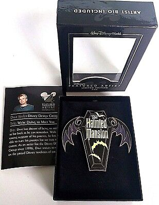 Disney Pin Haunted Mansion Featured Artist  We're Dying to Meet You Jumbo Pin LE