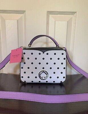 Nwt Kate spade vanity cabana dot mini top handle bag Purse