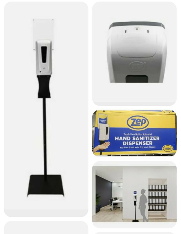 Zep TFHSU-1-2500PL Touch-Free Motion Hand Dispenser 84.54-oz with Stand -New