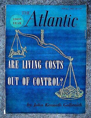 Vintage Magazine Atlantic Monthly Economy Health Vaccines 1950S English News