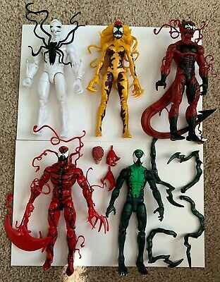 Loose Marvel Legends Symbiote Lot Poison, Scream, Red Goblin, Carnage, Lasher