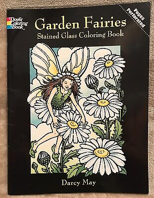 Garden Fairies Stained Gass Coloring Book By Darcy May 15 Pages ](May Coloring Pages)