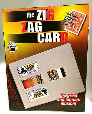 Deluxe MAGIC ZIG ZAG BICYCLE CARD FRAME Trick Playing Close Up Plastic Beginner