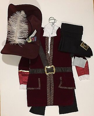 NWT Disney Store Sz 5/6 Captain Hook from Peter Pan Costume & Hat - Captain Hook Hat