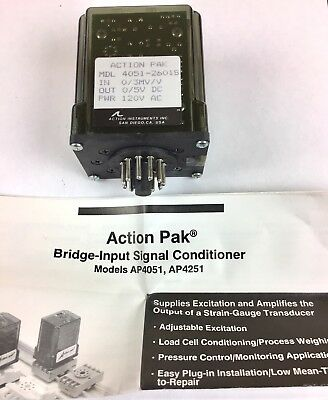 New Action Pak Instruments 4051-2601s Bridge Input Signal Conditioner