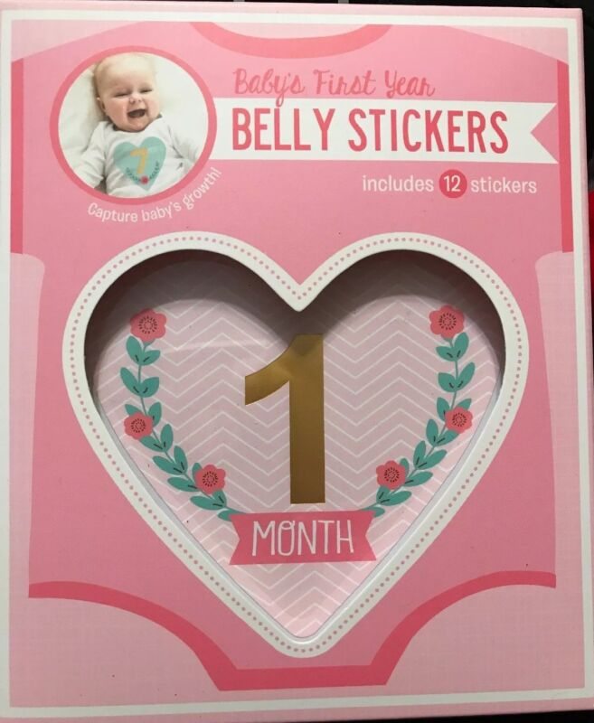Stepping Stones Babys First Year Belly Stickers 12 monthly Stickers-Girls NEW