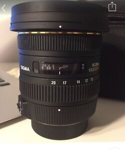 USED ONCE SIGMA 10-20MM WIDE ANGLE LENS