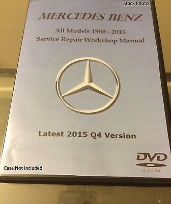 Mercedes Benz ALL MODELS 1986-2015 Service Repair Workshop Manual OEM Software a