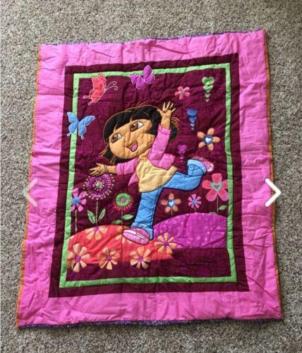 New Handmade Dora The Explorer Nursery Crib Quilt / Toddler Throw / Blanket