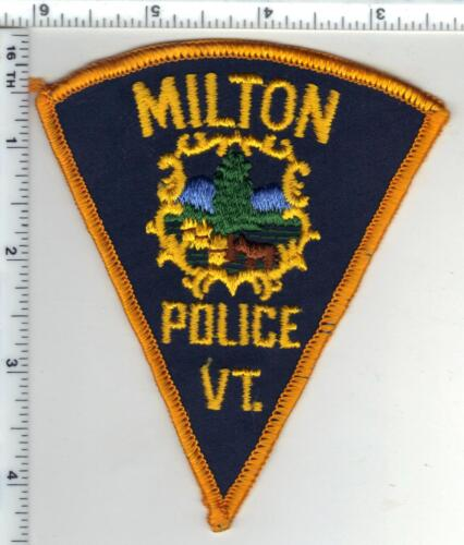 Milton Police (Vermont) Shoulder Patch from the Early 1980