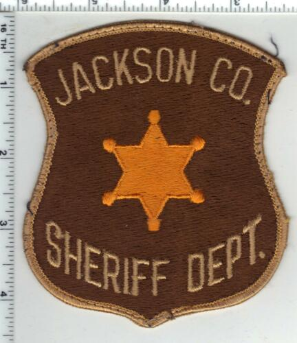 Jackson County Sheriff (Michigan) Uniform Take-Off Shoulder Patch early 1980