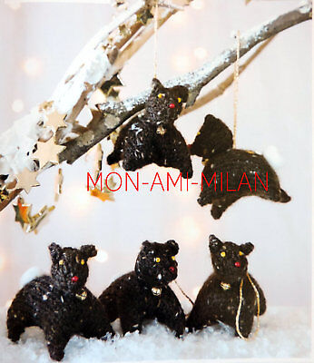 Reindeer Xmas Tree Toy Decorations Knitting Pattern To Make Festive Ornaments DK