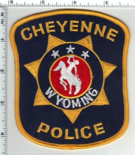 Cheyenne Police (Wyoming) Blue Background Shoulder Patch from the 1980