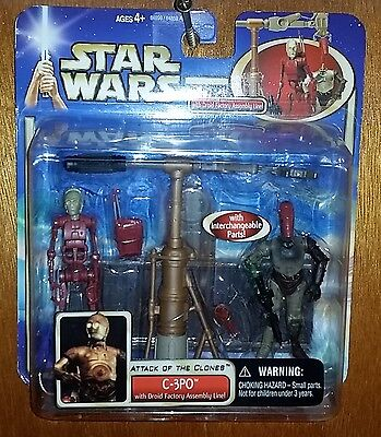 Star Wars Attack of the Clones C-3PO w/Droid Factory Assembly Line