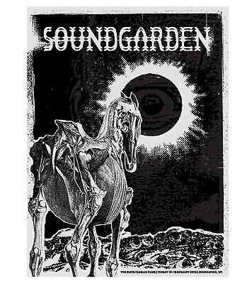 Soundgarden Chris Cornell 2013 Black Hole Sun  Poster Concert Milwaukee Wi S N