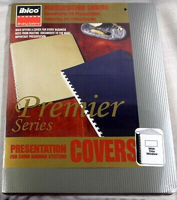 Ibico Premier Presentation Covers8 34x11 14silver Stripe Wwindow 10 Sets
