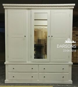 handmade darsons triple crown wardrobe, fully assambled+mirror door