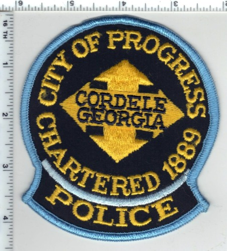 Cordelle Police (Georgia) Shoulder Patch from the 1980