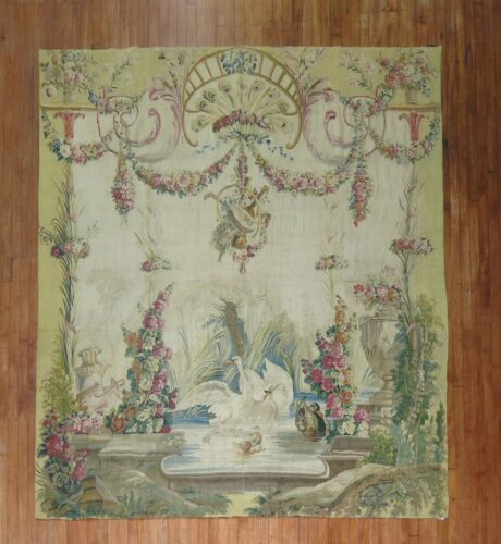 Antique French Tapestry Aubusson 18th Century Size 7