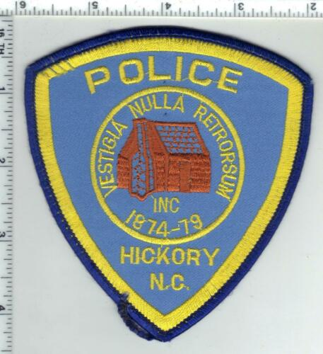 Hickory Police (North Carolina) 6th Issue Uniform Take-Off Patch