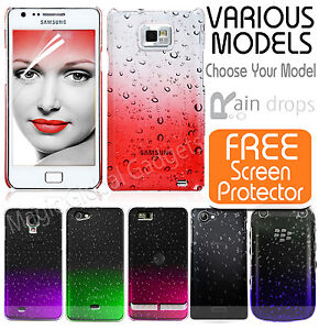 THIN-AQUA-WATER-RAINDROP-CRYSTAL-DESIGN-HARD-BACK-CASE-COVER-FOR-MOBILE-PHONES